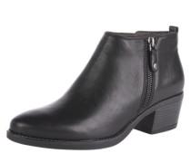 Ankleboots aus Leder schwarz