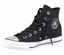 Sneaker 'Chuck Taylor All Star Metallic Toecap Hi' schwarz / weiß