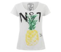 Shirt mit Ananas-Print weiß
