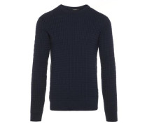 Carl Zopfstrick Baumwoll Pullover blau