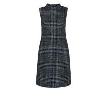 Stehkragen-Kleid mit Glencheck-Muster mischfarben