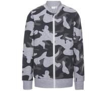 Sweatshirt mit Reißverschluss 'nitharri' anthrazit / basaltgrau / graumeliert