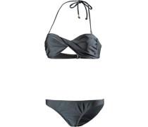 Bandeau Bikini dunkelgrau
