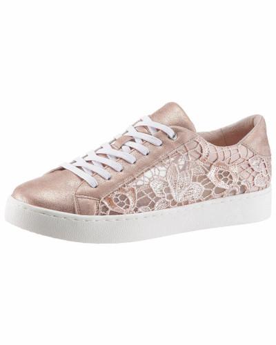 ARIZONA Damen Sneaker nude / rosegold / weiß