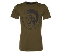 T-Shirt mit Logo-Appliaktion 'Diego' grau