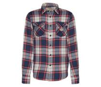 Karo-Hemd mit Brusttaschen dunkelblau / rot / weiß