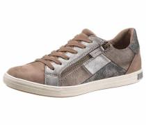 Sneaker hellbraun / silbergrau