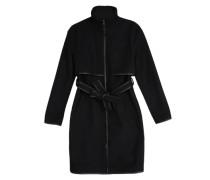 Mantel mit Wollanteil schwarz