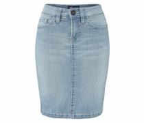 Jeansrock mit Kontrastnähten blue denim
