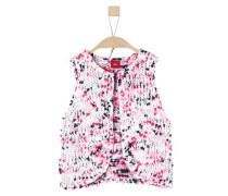 Strickweste in Fancy Garn rosa / schwarz / weiß