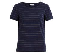 T-Shirt 'Vitinny' mit Lurexstreifen navy / gold