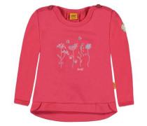 Sweatshirt mit Blumenprint pink