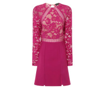 Kleid 'Raspberry Lace Panel Shift' himbeer