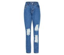 'nmdonna' Mom Jeans blue denim