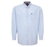 Regular: Hemd mit Chambray-Details hellblau