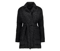 Jacke mit Strickeinsatz grau / schwarz / weiß