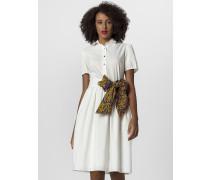 Kleid creme / silber / goldgelb