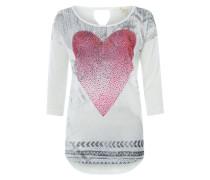 Pullover mit Herz grau / mischfarben / rot / weiß