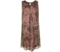 Kleid in fließender Optik taubenblau / hellgrün / altrosa