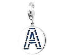 Charm 'Letter A' navy / silber