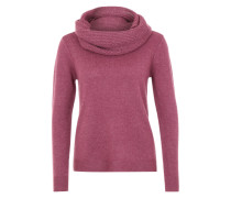 Pullover mit Loop-Schal rot