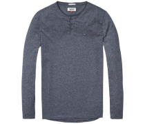 "Langarmshirt ""thdm Basic Henley Knit L/S 40"" schwarz"