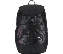 Rucksack für Mädchen 20l dunkellila / schwarz