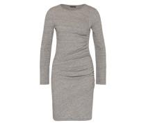 Kleid mit Raffung grau