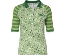 Poloshirt grün / rot