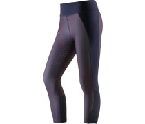 'Fly By' Lauftights Damen navy / neonorange