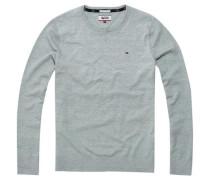 Pullover 'thdm Basic CN Sweater L/S 38' graumeliert