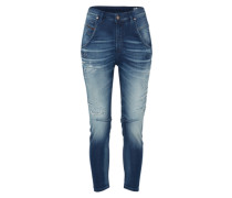 'Fayza' Joggjeans Tapared Fit 855B blue denim