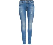Destroyed-Jeans »Carmen« blau