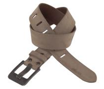 Ledergürtel »mit exklusiven Verschluss-Design« grau