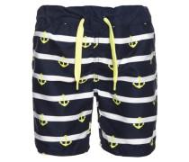 Shorts nachtblau / gelb / weiß