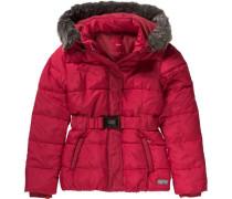 Winterjacke mit Gürtel für Mädchen rot