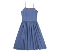 """Hilfiger Denim Kleid """"thdw Chambray Dress S/L 22"""" blau"""