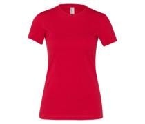 Basic-Shirt mit Rundhalsausschnitt rot