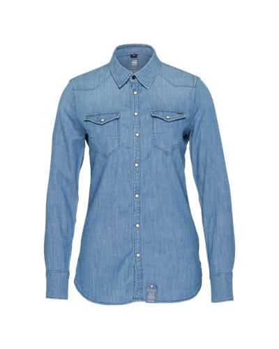 g star raw damen g star raw jeanshemd 39 tacoma 39 blau reduziert. Black Bedroom Furniture Sets. Home Design Ideas