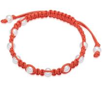 Armband orange / weiß