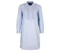 Blusenkleid mit Rüschen hellblau