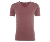 T-Shirt mit V-Ausschnitt 'Brady' pastellrot
