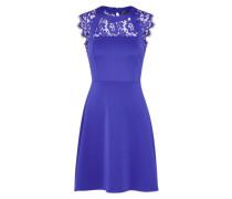 Kleid 'lace Scuba' violettblau