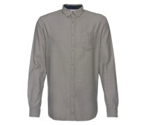 Button-Down-Hemd grau