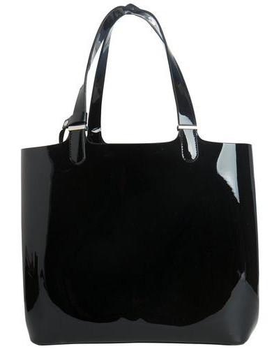 Glänzende Shopping-Tasche schwarz