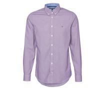 Hemd mit Button-Down-Kragen lila
