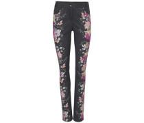 Druckhose Blumen rosa / dunkelpink / schwarz