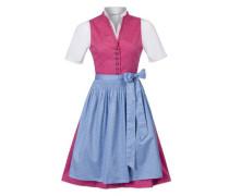 Dirndl 'Angela' himmelblau / pink