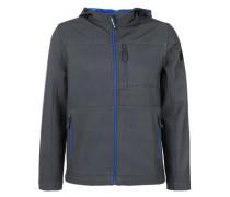 Softshell-Jacke mit Farbakzent blau / basaltgrau