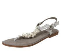 Zehentrenner-Sandale silber